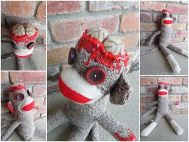 Zombie Sock Monkey by IckyDog