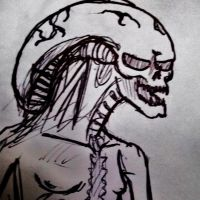 ALIEN newborn sketch by TheWallProducciones