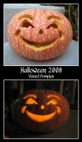 2008 Halloween Pumpkin - Veined Happy Face by thamuria