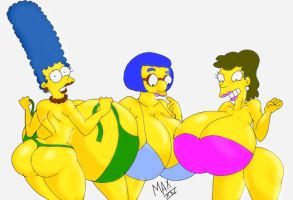 Marge, Luann and Helen by maxtlat
