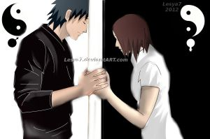 Obito and Rin: You and I are like black and white. by Lesya7