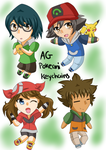 Pokeani AG keychain designs by Little-MissMidnight