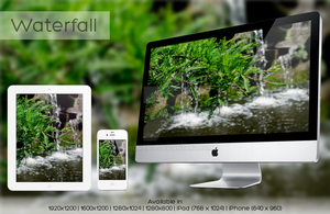 Wallpaper - Waterfall by iphomania