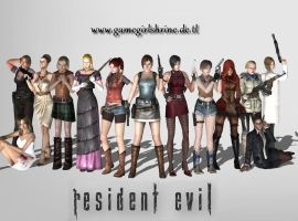 Resident Evil Ladies by Bahlinka