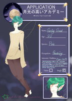 ~Gekko High Academy Application{Curley by KatieePandaa