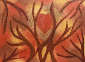 Chalk Pastel: Abstract by spilledpaint88