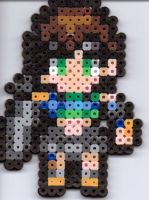 Small FF7 yuffie by Ravenfox-Beadsprites