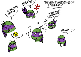 The Many Expressions Of Donatello by loveless-sempai