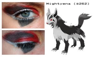 Pokemakeup 262 Mightyena by nazzara