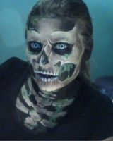 Skeleton face paint (2) by GuitarMagic