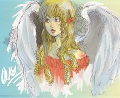 Angel colored in Painter by O-Kei