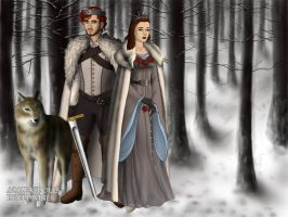 The King And Queen in The North by BlackRoseOfSummer