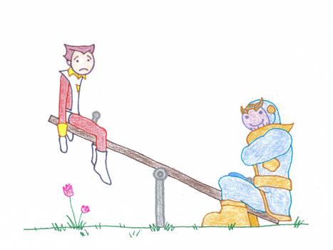 Thanos and Starfox by JMCTLH