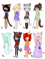 (CLOSED) Point Adoptables: Neko 8 by Acetyless-Adopts