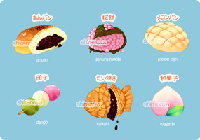 Japanese Sweets by Shiranova