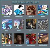 2013 summary of art by lizspit