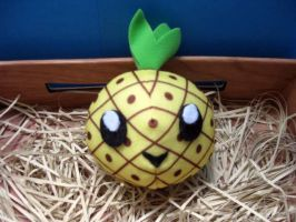Kawaii Pineapple Plush by PaperCadence