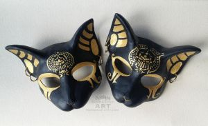 Bast Egyptian Cat Mask custom orders by nondecaf