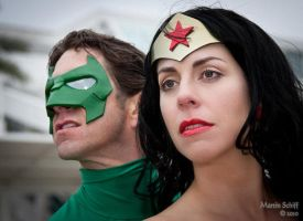 Wonder Woman and Green Lantern by rozfriday