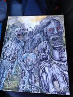 Zombies for Dave Painting by scottynobody