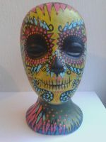 hand painted head by cruellendejagger