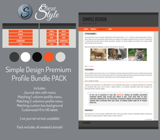 Simple Design ~ Premium Content by ClearStyle