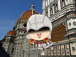 Chibi Ezio jump of faith by chaos-dark-lord