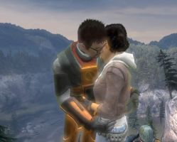 Gordon Freeman and Alyx Vance by Pyri