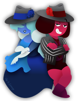 Ruby and Sapphire: Uptown Funk by TheRScrooge