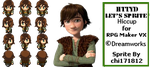 Surprise Sprite RPG Maker - Hiccup Haddock by chi171812