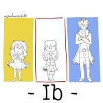 Ib and Friends - Three-colored frames by MsRandom1401