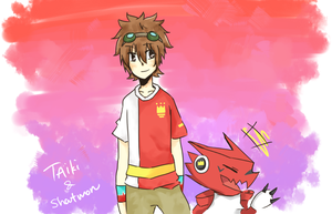 [RQ] Taiki and Shoutmon by blearry1