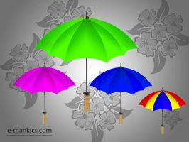 Umbrella icons - psd available by Radyb
