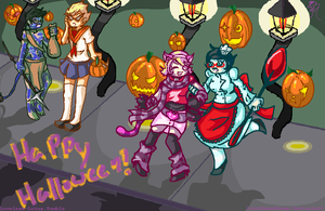 Happy Halloween! Alphas by IronSteamSheep