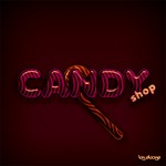 Candy Shop PSD template and style by eboye