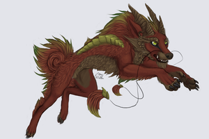 Dragon Dog by LimeGreenBean