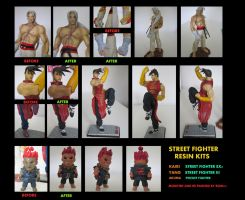 Street Fighter resin statues by rgm501