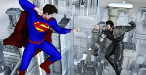 Young Superman VS General Zod by TeddyBlackBear2040