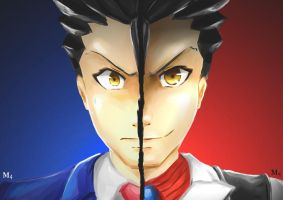 Spoiler: Phoenix Wright vs Phantom by Marini4