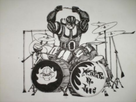 JEEG robot drummer by Lunkface89