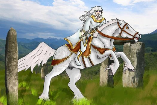 Thaedys and his Horse - Finish by lover-of-the-Drow