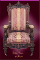 Gothic pink chair by jinifur