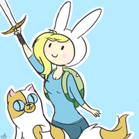 AT - Fionna and Cake by SoraxKinxol