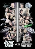 Star Trek vs Star Wars Poster by GeekTruth64