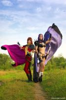Slayers - Lina and Naga cos4 by GreatQueenLina