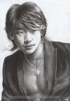Bi Rain pencil drawing p2m by phamMinhMan