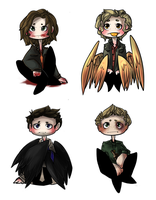 +Artwork+ Supernatural Chibis. by Stephys-Adoptables