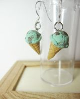mintchocolate icecream earring by PetiteCreation