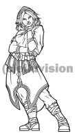 Nuki Black and White Line Art (Vector) by Eiluvision