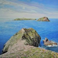 Near The End Of The Great Blasket Island by eastcorkpainter